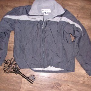 mens columbia gray medium winter fall  jacket coat